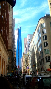 My quick snapshot of the 9/11 Memorial while walking the streets of New York