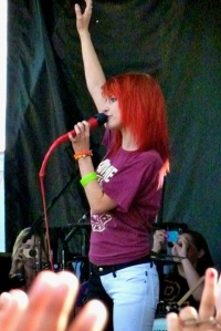 Hayley Williams at Warped Tour 2011. I've wanted the Ramones shirt she was wearing ever since.