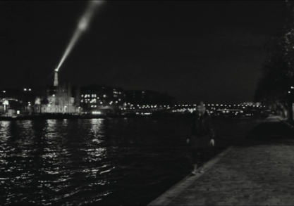 Frances walking along the River Seine. Image courtesy of netflix.com