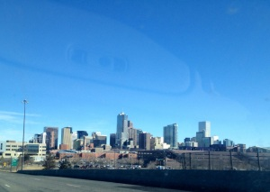 Driving to Denver in early January.