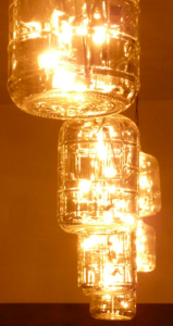 A close-up of the Carboy lamps hanging in 61 Local.  Image courtesy of 61 local.com