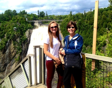We couldn't have asked for better weather when we took a 20-minute trip outside of the city to Montmorency Falls (which happen to be 30 m higher than Niagara Falls).
