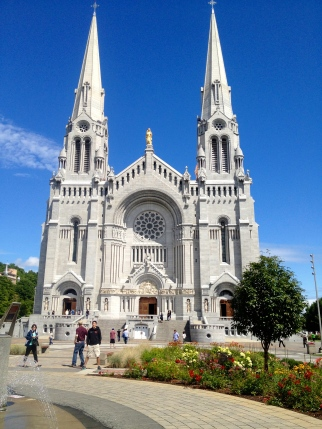 Also outside of the city is the Basilica of Sainte Anne de Beaupré, where people have walked in crippled and have come out healed. Walkers, canes, and other helping hands rest near the entrance.