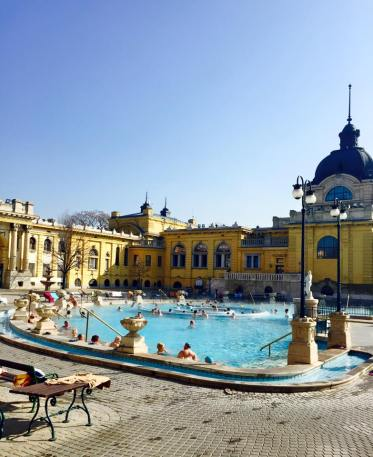 "Located on the ""Pest"" side of the city, the Szechenyi Thermal Bath was the perfect afternoon activity."