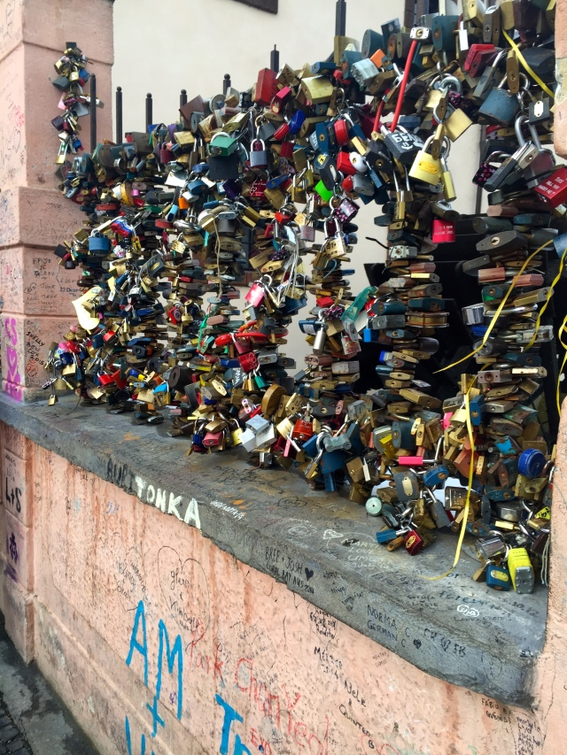Prague's Love Lock Bridge