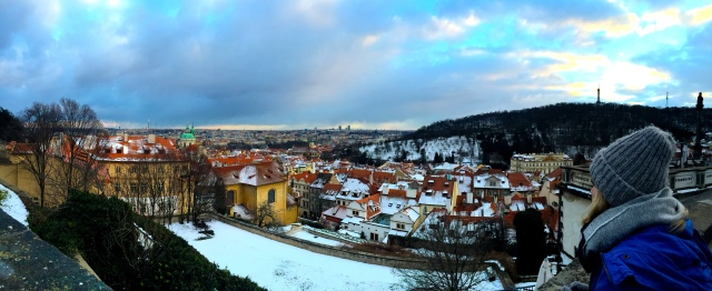 Panoramic view of Prague