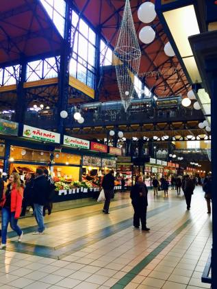 Shopped at the Great Market Hall, an indoor market that sells everything from fresh meat and vegetables to souvenirs and candy.