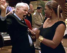 Queen Latifah and Steve Martin in Bringing Down the House.  Image courtesy of cinemablend.com.