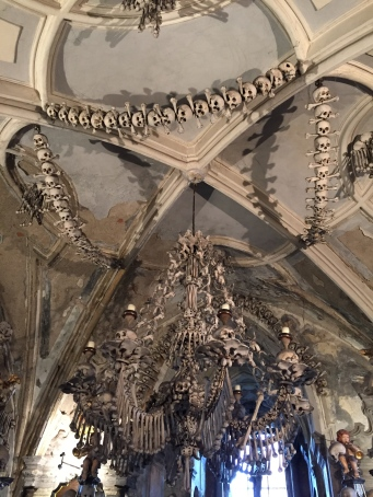 Even the ceiling was adorned with the bones of plague victims.
