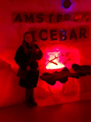 Couldn't pass up a picture in front of the Amsterdam Ice Bar sign.