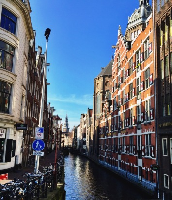I loved the view of the canals winding through the streets and buildings in Amsterdam.