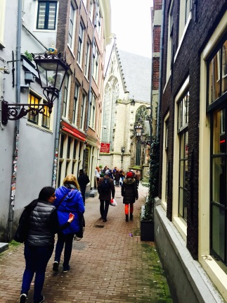 Walking into the Red Light District in search of the PIC.
