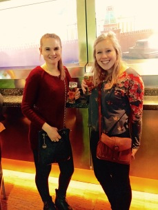 My roommate and I enjoying our Heinekens included in the price of the tour.