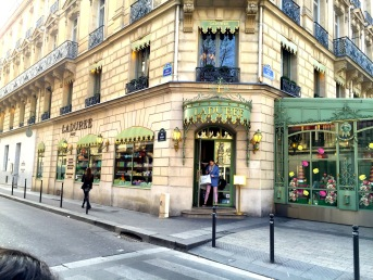 We strolled along the famed Rue de Champs Elysees and found Ladurée, the bakery known for its macarons and its features in shows like