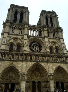I couldn't leave Paris without stopping to admire Notre Dame Cathedral.