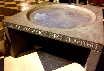 How fitting that this quote would be inscribed on the Notre Dame Cathedral Baptismal font that is visited by a multitude of tourists each day.