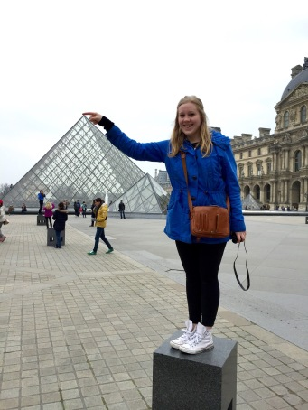 Yes, we even took the typical tourist photo outside The Louvre.