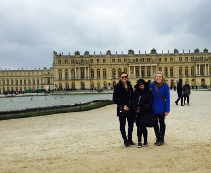 Before my roommates left to head back to Prague, we took a day trip to Versailles to see the palace and the gardens. Here we are standing in the gardens.