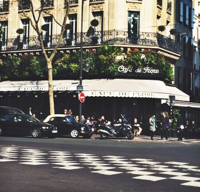 I took this picture across the street from Cafe Flore after enjoying a delicious breakfast of an omelette and espresso.