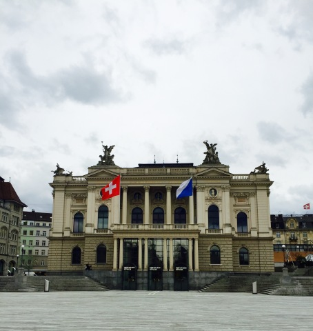 We walked past the Zurich Opera House and marveled at its exterior design. There is a spacious pedestrian-only area in front of the opera house complete with dining tables.