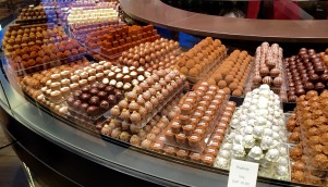 We were in Zurich right before Easter, so it was only fitting to stop at Läderach, a popular Swiss chocolatier located on the famous shopping street Bahnhofstrasse.