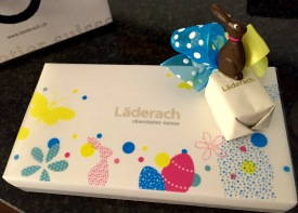 Since Easter was right around the corner, I couldn't walk out of Läderach without satisfying my sweet tooth.