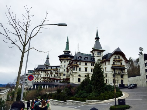 The bus took us up into the residential areas of Zurich and stopped at the Hotel Dolder Grand, a 5-star luxury hotel & spa, that boasts an impeccable view of Lake Zurich and the Swiss Alps.
