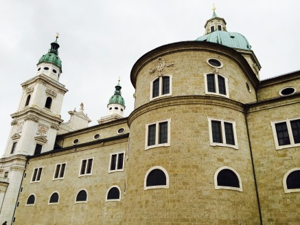 Salzburg Cathedral in Residentzplatz, a popular square in the city.