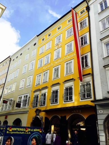 This house now turned museum is where the famous musician Mozart was born.