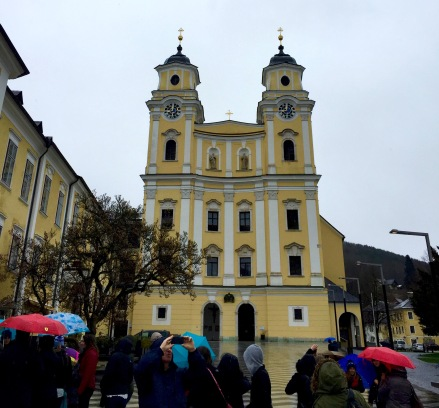 Mondsee Cathedral in Mondsee, Austria was The Sound of Music filming location for Maria & the captain's wedding.
