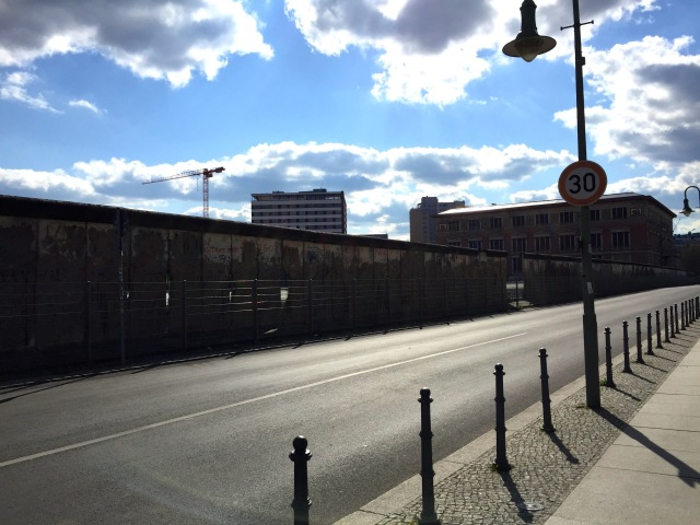 A portion of the Berlin Wall that is still standing