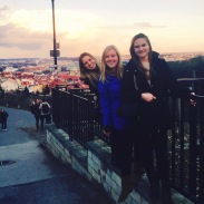 Looking at the view from Strahov Monastery with my roommates.