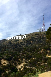 Hiking up to the Hollywood sign.