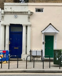 famous blue door in Notting Hill