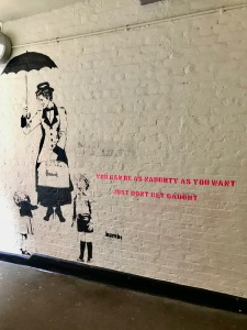 Mary Poppins mural in Neal's Yard done by street artist Bambi