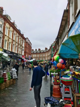 Electric Avenue and market in Brixton London
