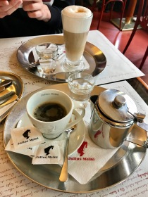 coffee at cafe louvre in Prague