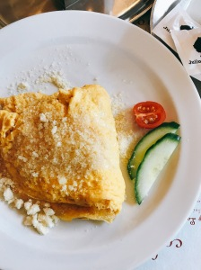 omelette with gran moravia cheese